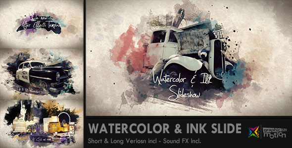 Watercolor & Ink Slideshow 水墨-Videohive中文最全的AE After Effects素材分享平台