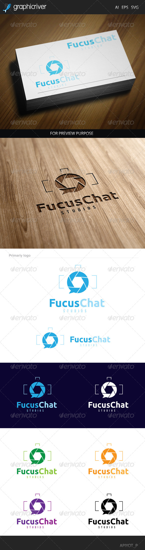 GraphicRiver Focus Chat Logo 8514702