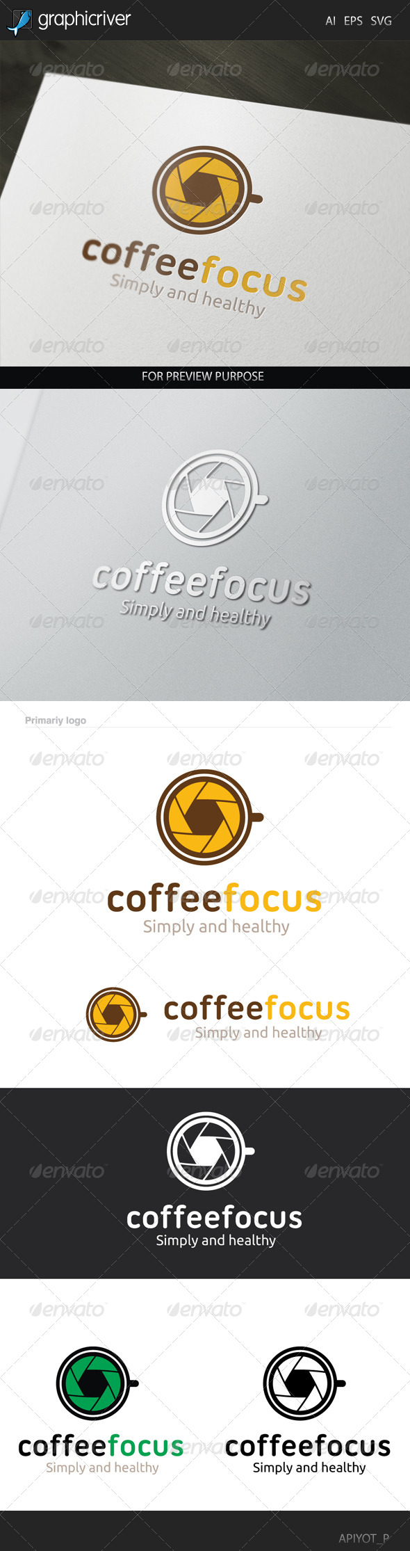 GraphicRiver Coffee Focus Logo 8514716