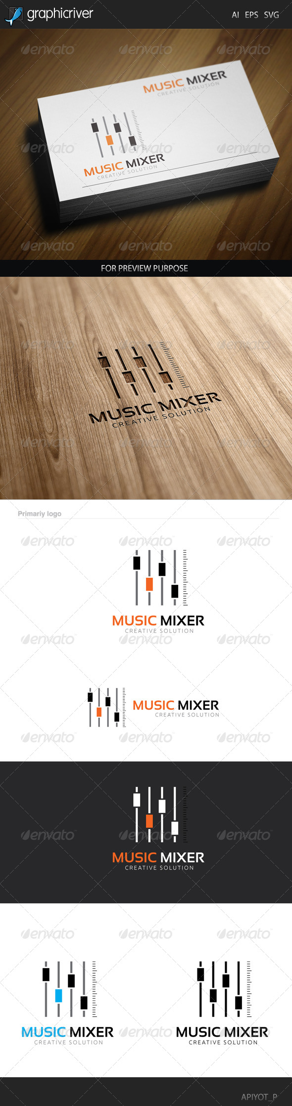 GraphicRiver Music Mixer Logo 8514749