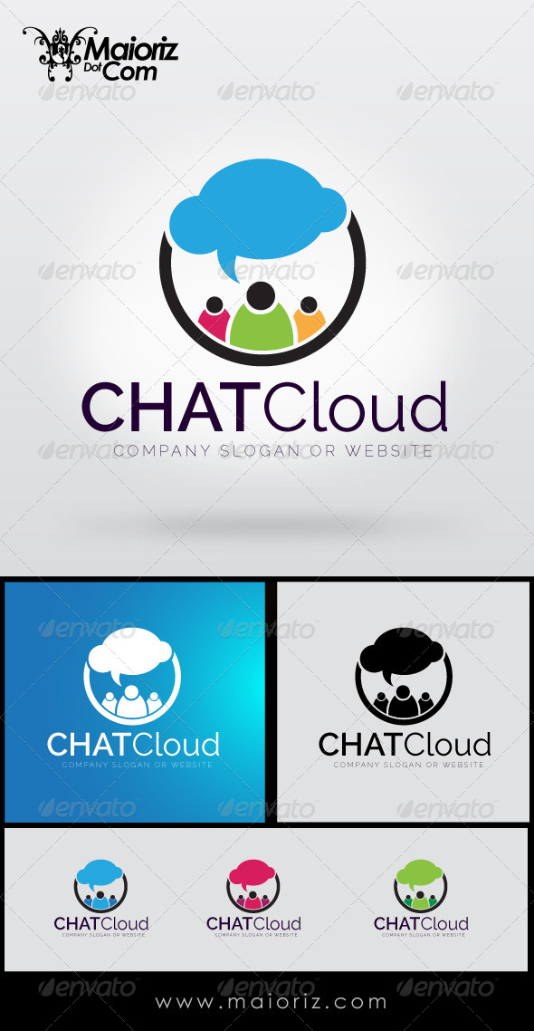 GraphicRiver Chat Cloud Logo 8514780