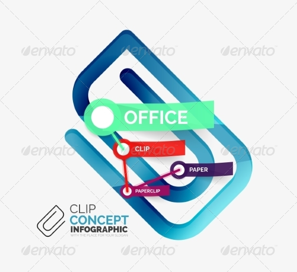 GraphicRiver Vector Office Clip Infographic Concept 8514785
