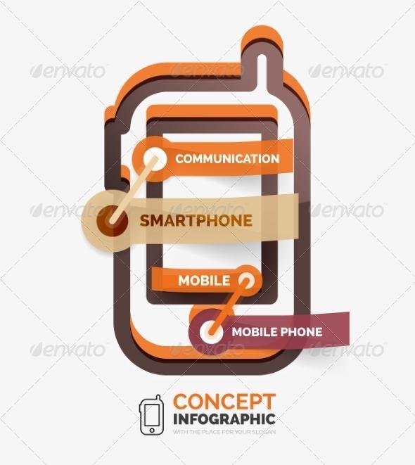 GraphicRiver Vector Smartphone Icon Infographic Concept 8514790