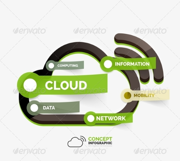 GraphicRiver Vector Cloud Storage Icon Infographic Concept 8514791