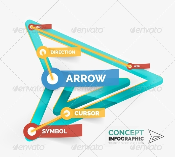 GraphicRiver Vector Arrow Icon Infographic Concept 8514793