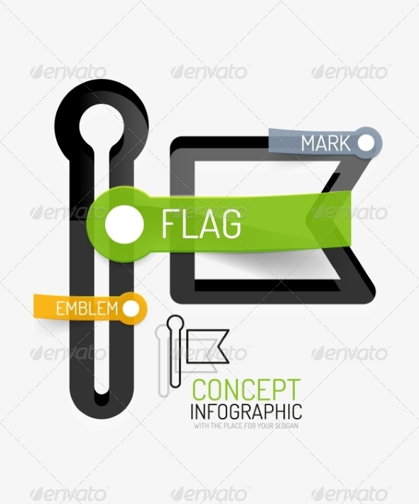 Vector Flag Icon Infographic Concept