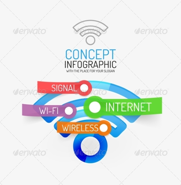 GraphicRiver Vector Wifi Infographic Concept 8514796