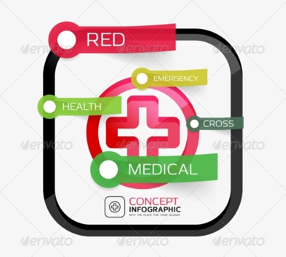 Vector Medicine Cross Infographic Concept