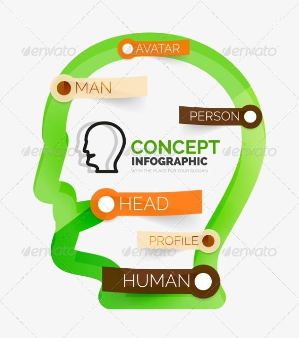 GraphicRiver Human Head Infographic Concept 8514807