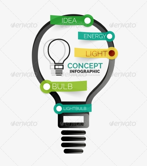 GraphicRiver Light Bulb Infographic Concept 8514808
