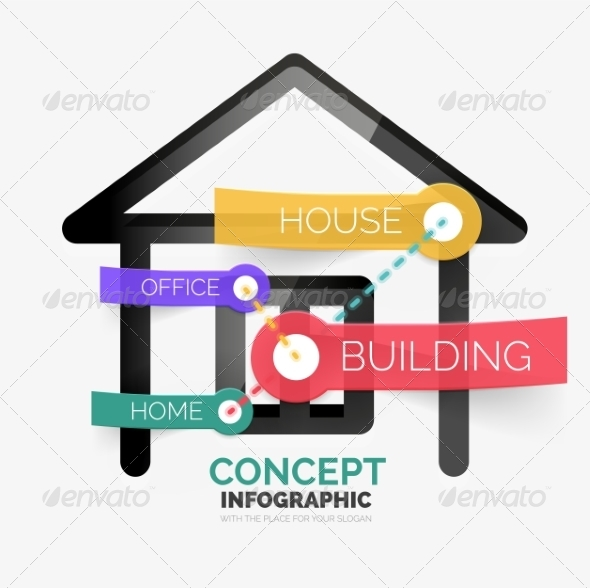 GraphicRiver Home Icon Infographic Concept 8514811