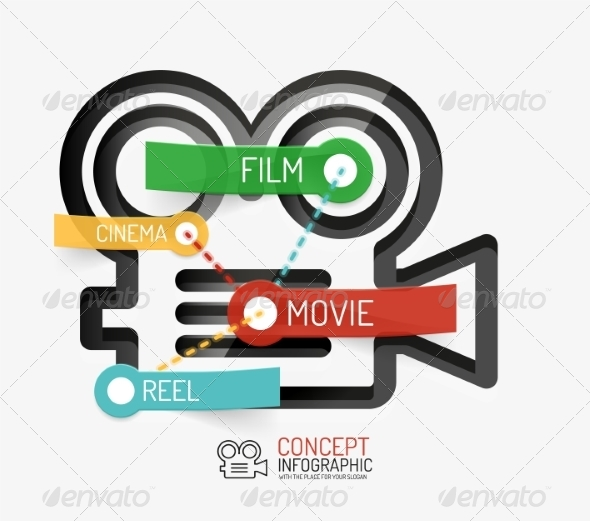 GraphicRiver Cinema and Movie Infographic Concept 8514814