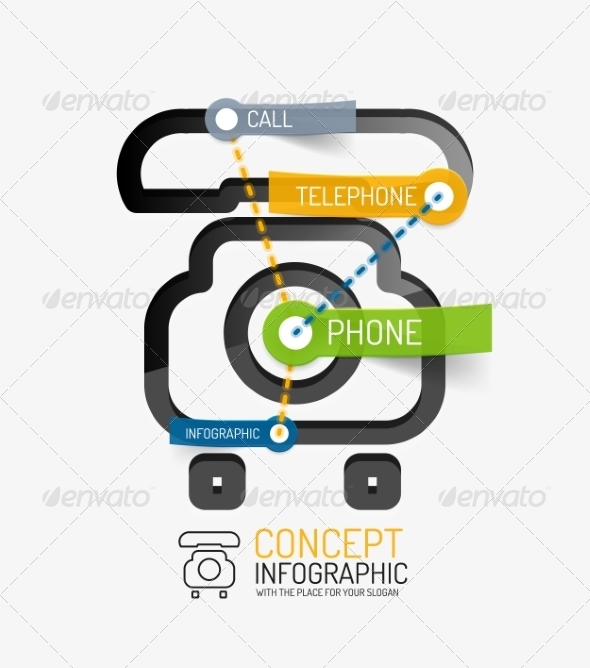 GraphicRiver Telephone Infographic Keywords 8514818