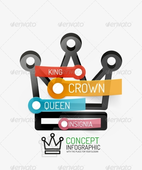 GraphicRiver Vector Crown Infographics 8514822