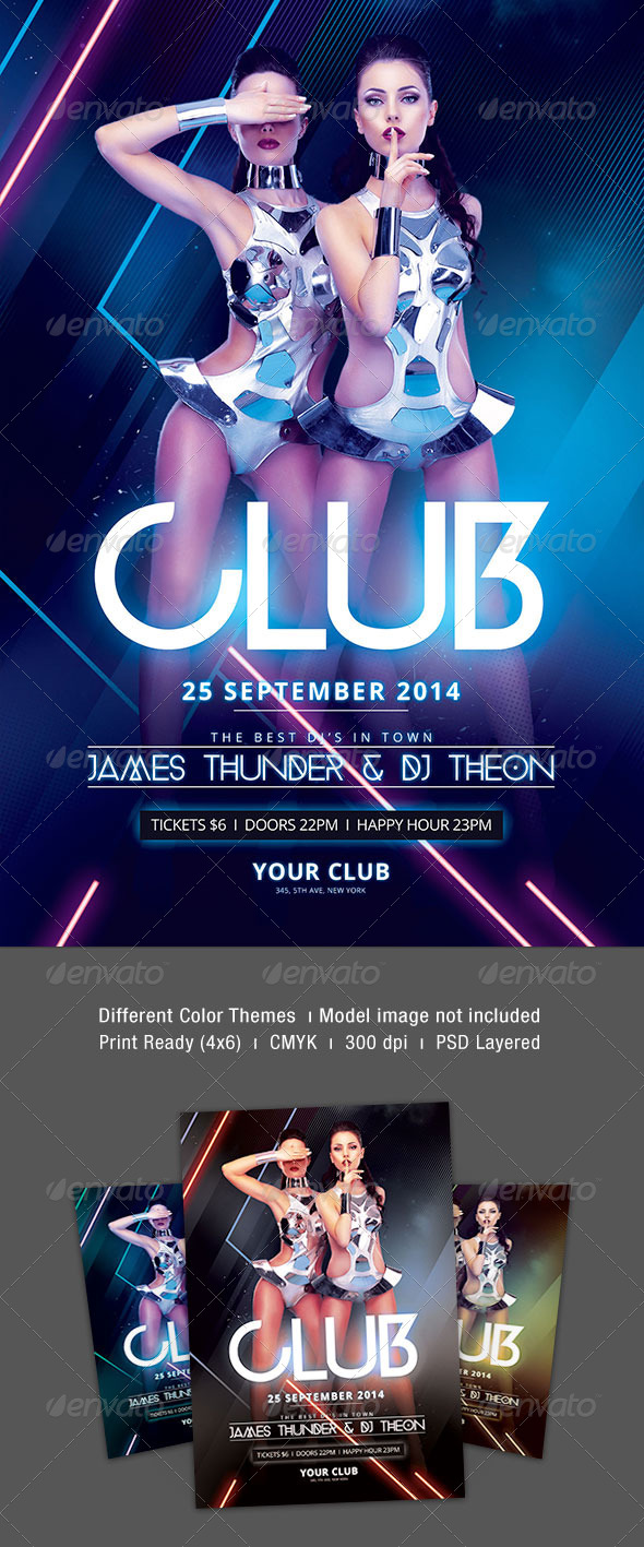 GraphicRiver Club Flyer 8514855