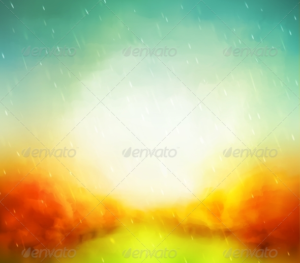 GraphicRiver Autumn Watercolor 8514876