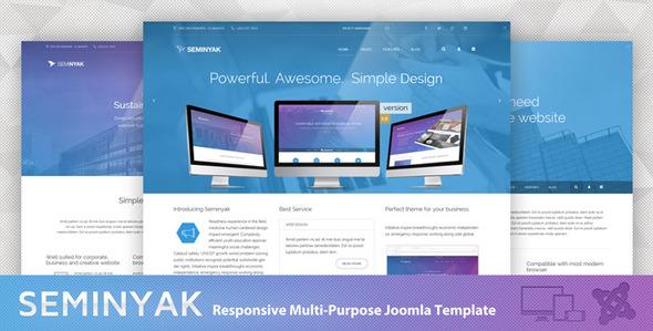 Seminyak - Responsive Multi-Purpose Joomla Theme - Joomla CMS Themes
