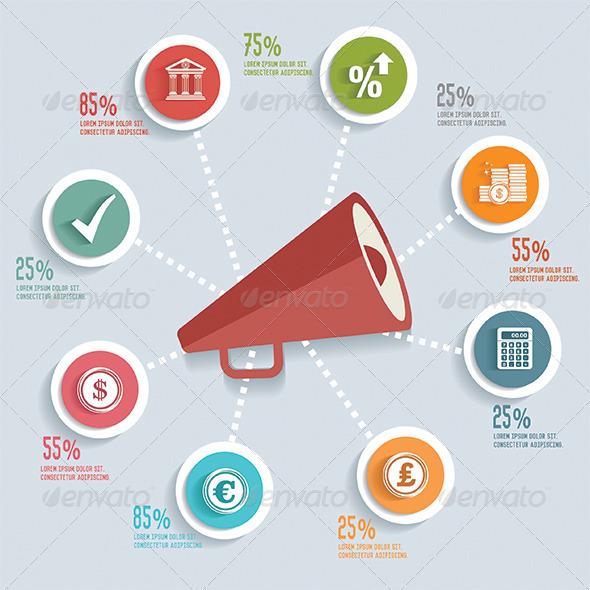 GraphicRiver Megaphone Infographic Design 8514886
