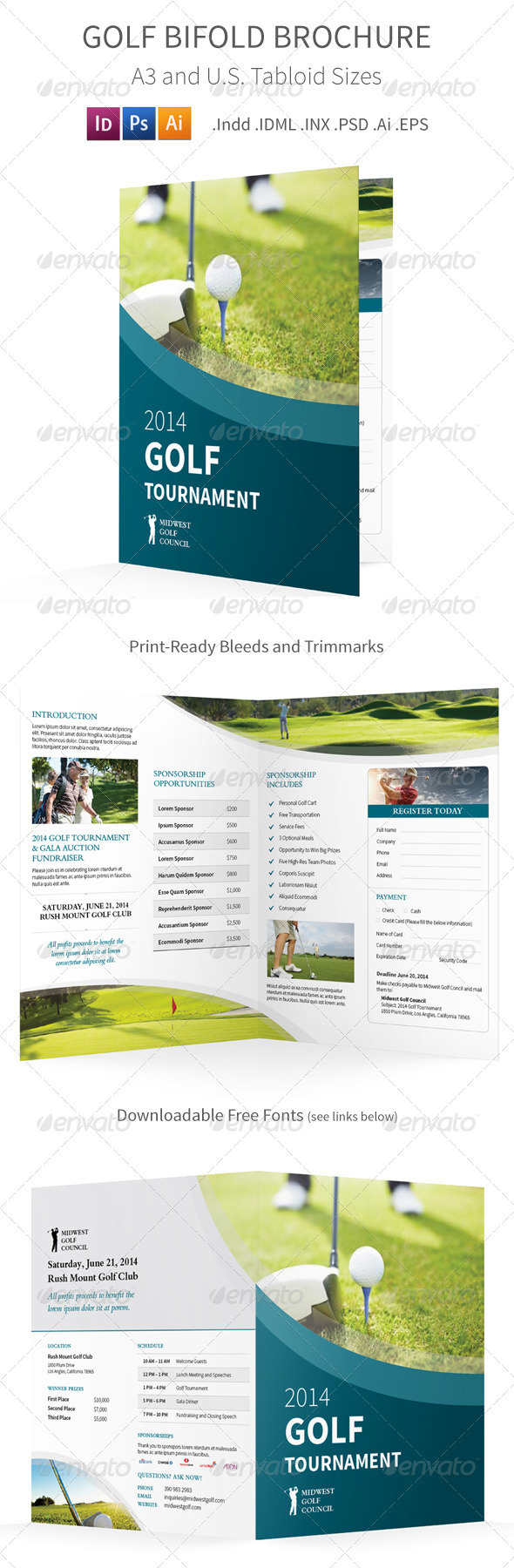GraphicRiver Golf Tournament Bifold Halffold Brochure 8514972