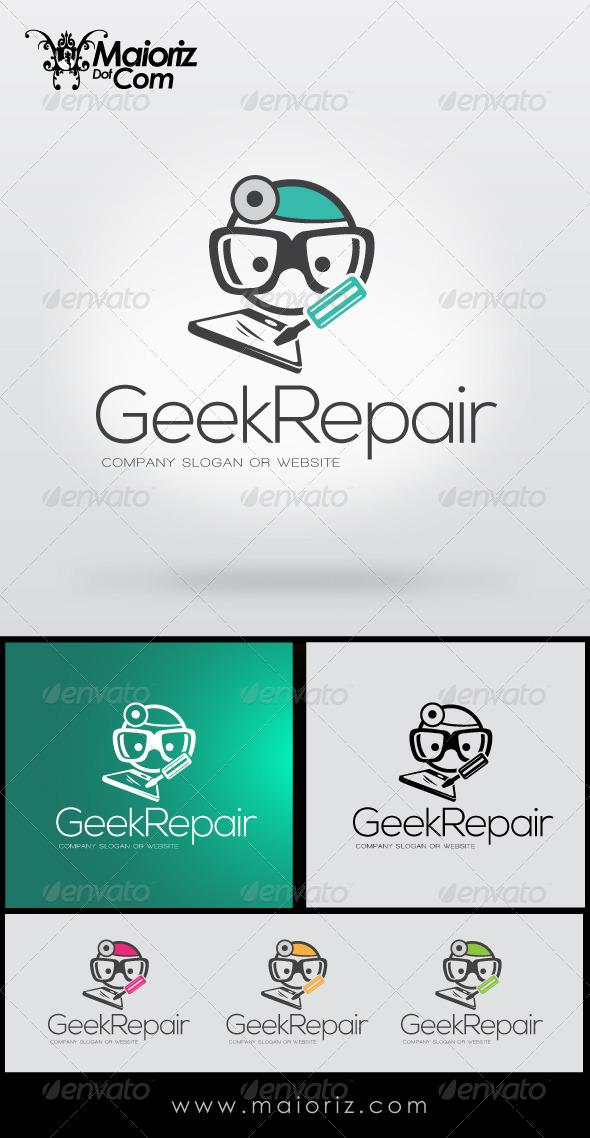GraphicRiver Geek Repair Logo 8515043