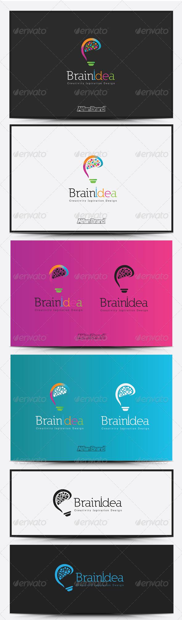 GraphicRiver Brain Idea Logo 8515225