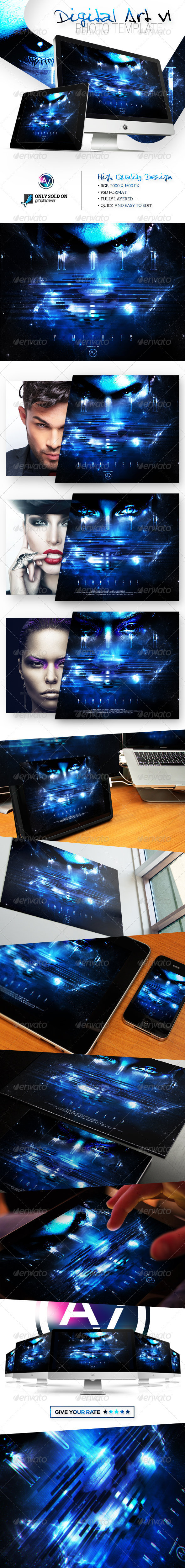 Digital Art Photo Template V1 - Tech / Futuristic Photo Templates