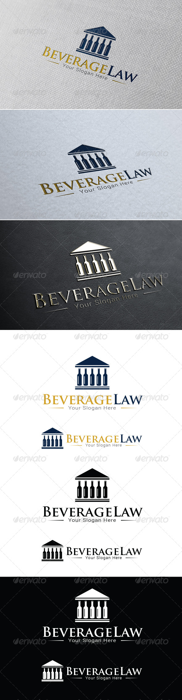 GraphicRiver Beverage Law Firm Logo Template 8515397