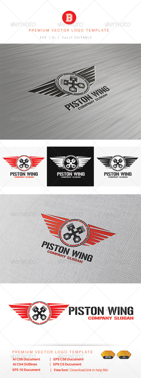 GraphicRiver Piston Wing 8515398