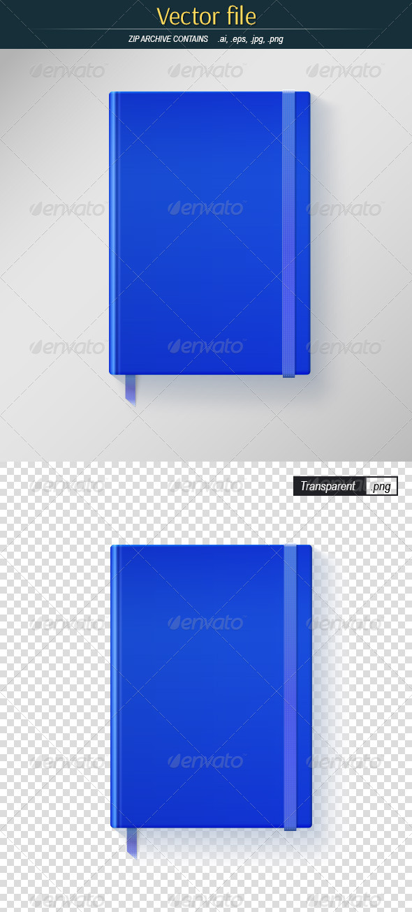 GraphicRiver Blue Blank Book Cover 8515461