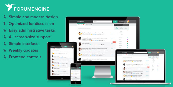 ForumEngine, Flat Responsive WordPress Forum Theme
