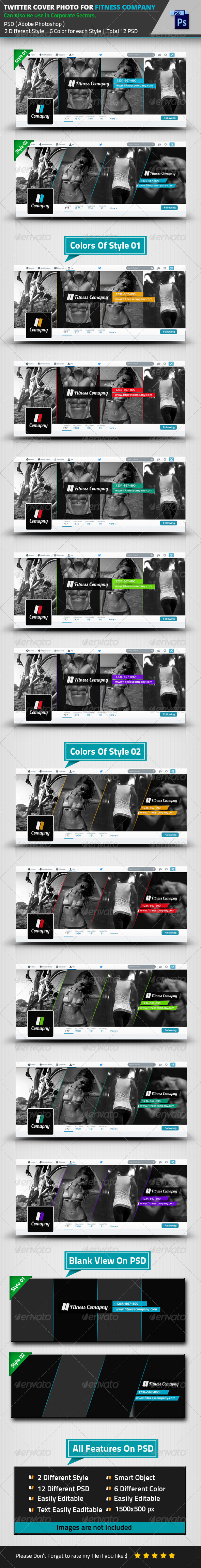 GraphicRiver Twitter Cover Photo For Fitness Company 8515670