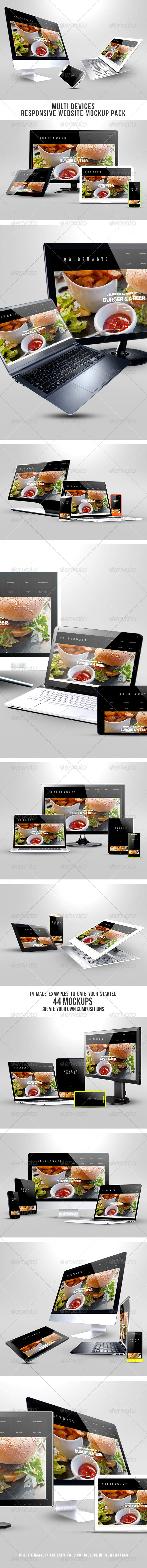 GraphicRiver Multi Devices Responsive Website Mockup Pack 8516036