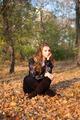 Girl sitting in leaves - PhotoDune Item for Sale