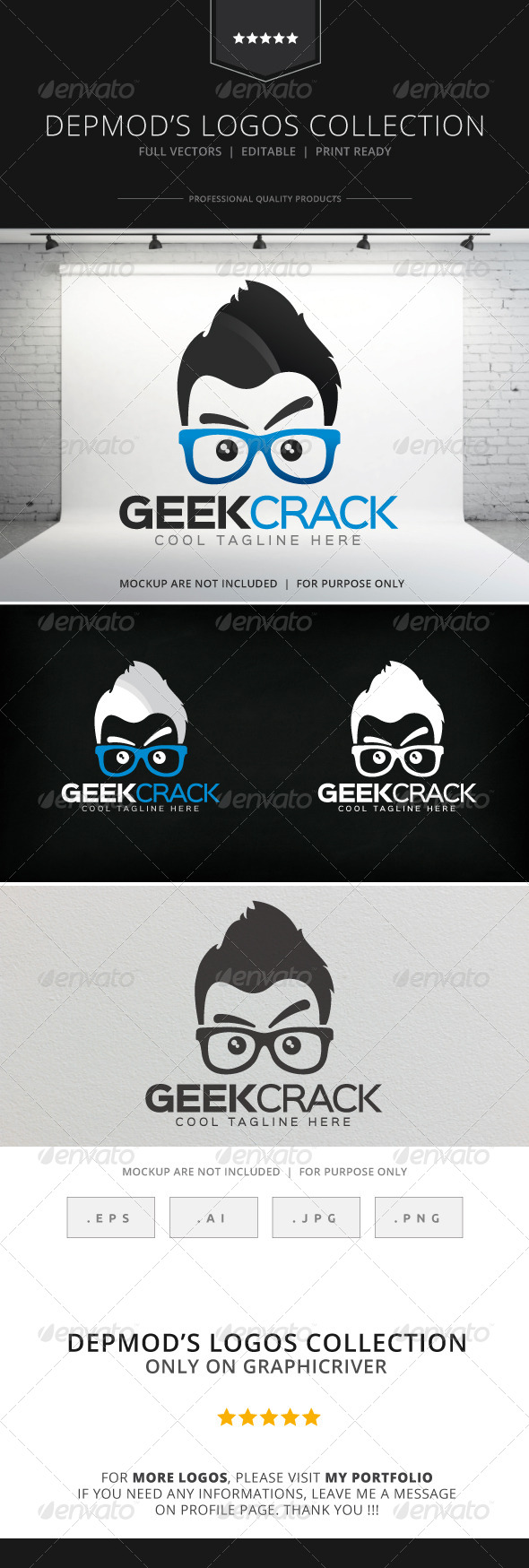 GraphicRiver Geek Crack Logo 8516141