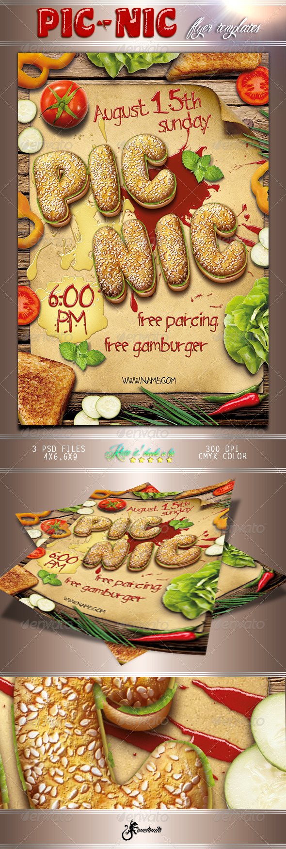 GraphicRiver Picnic Barbecue Flyer 8516190