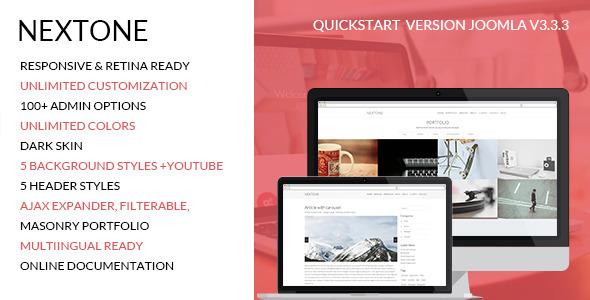 Nextone - Responsive One Page Joomla Template - Creative Joomla