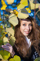 Portrait in Yellow Leaves - PhotoDune Item for Sale