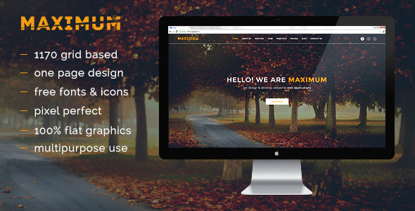 ThemeForest Maximum PSD 8471097