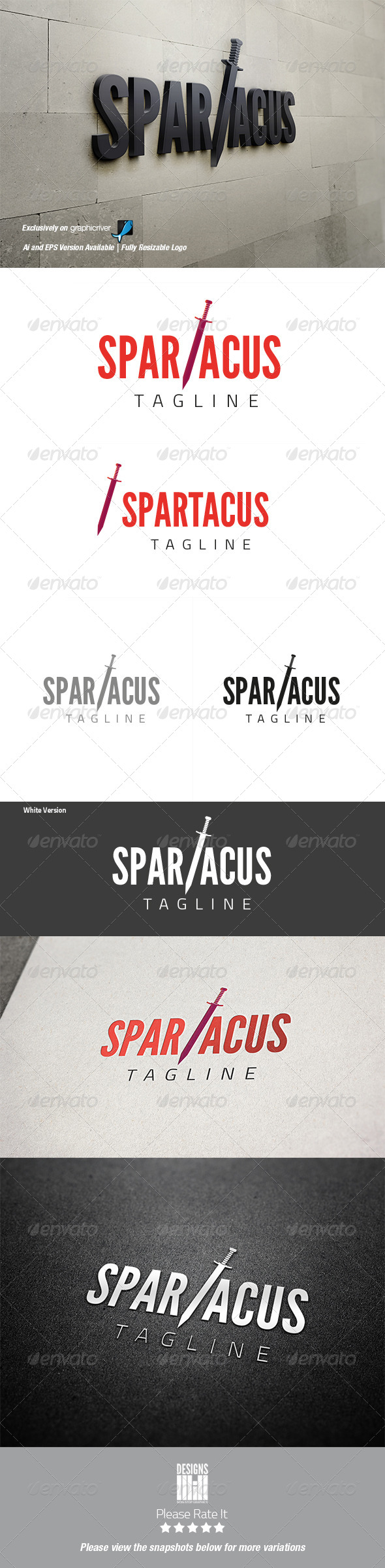 GraphicRiver Spartacus Logo 8495589