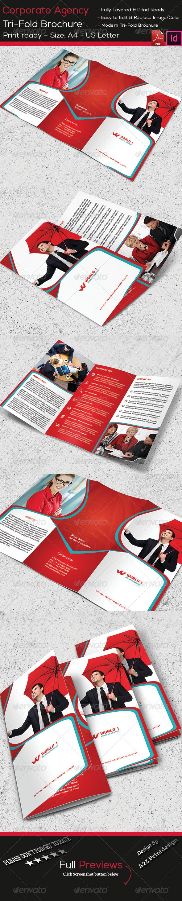 GraphicRiver Corporate Agency Brochure 8516270