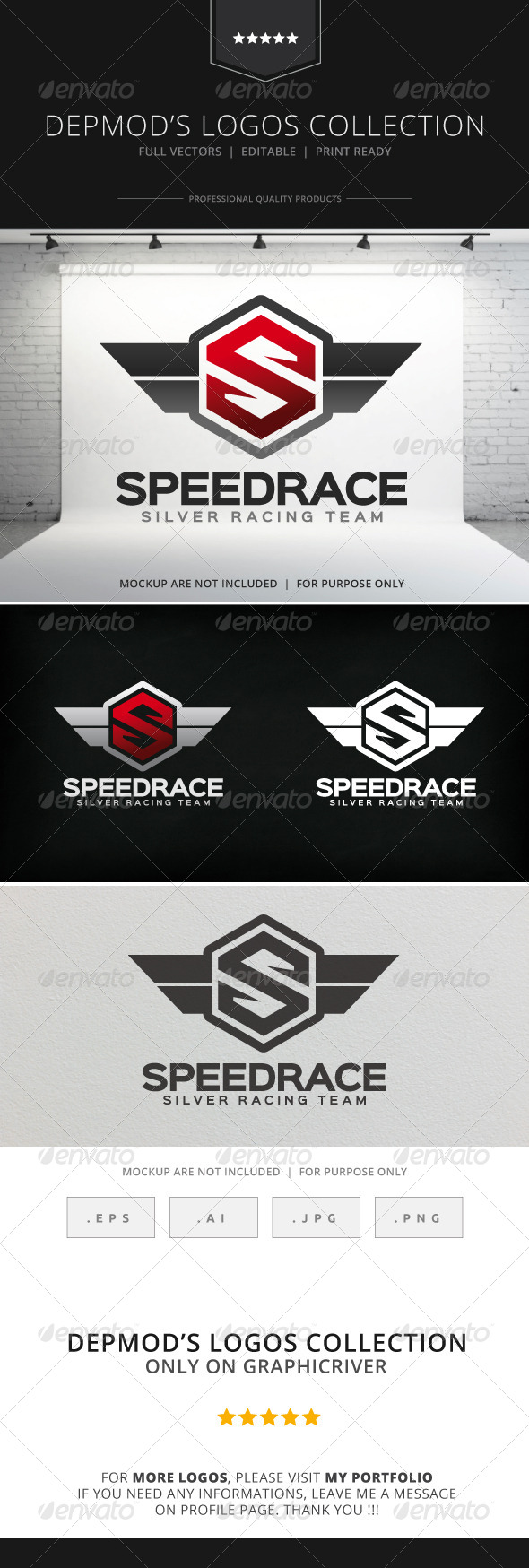 GraphicRiver Speed Race Logo 8516309