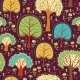 Forest Wallpaper with Cartoon Trees - GraphicRiver Item for Sale