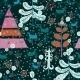 Pattern with Santa Deer, Doodle Snowman - GraphicRiver Item for Sale