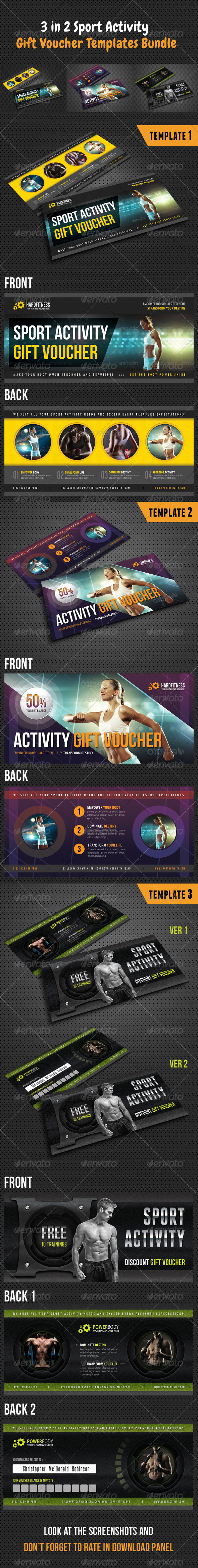 GraphicRiver 3 in 1 Sport Activity Gift Voucher Bundle 01 8516438