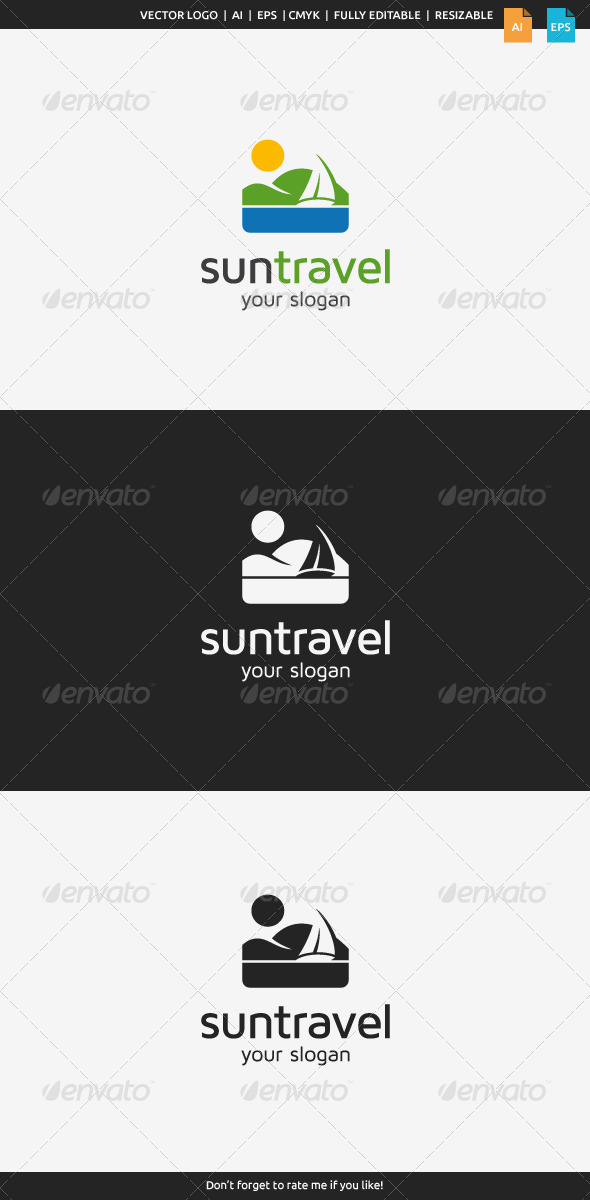 GraphicRiver Sun Travel Logo 8516467