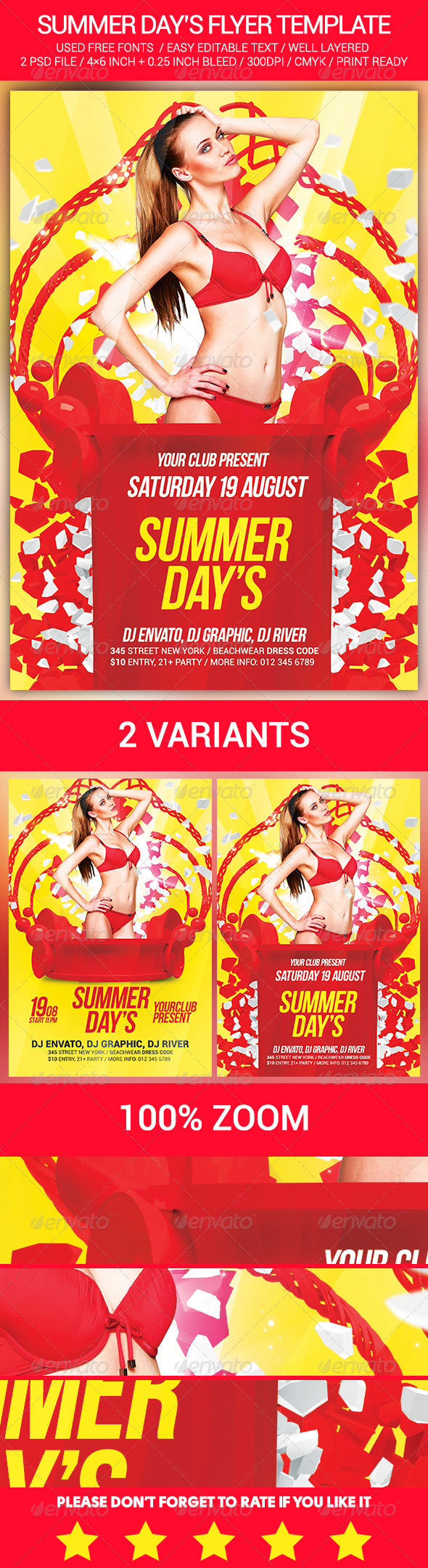 GraphicRiver Summer Day s Flyer Template 8516469