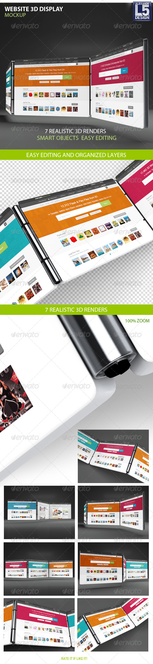 GraphicRiver Website 3D Display Mock-Up 8516544