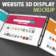 Website 3d Display Mock-Up - GraphicRiver Item for Sale