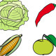 Set of Fruits and Vegetables - GraphicRiver Item for Sale