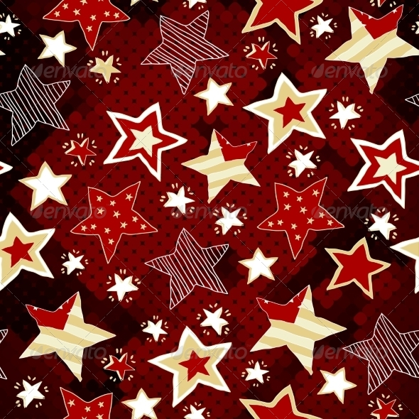 GraphicRiver Stars on Red Mosaic Background 8516566